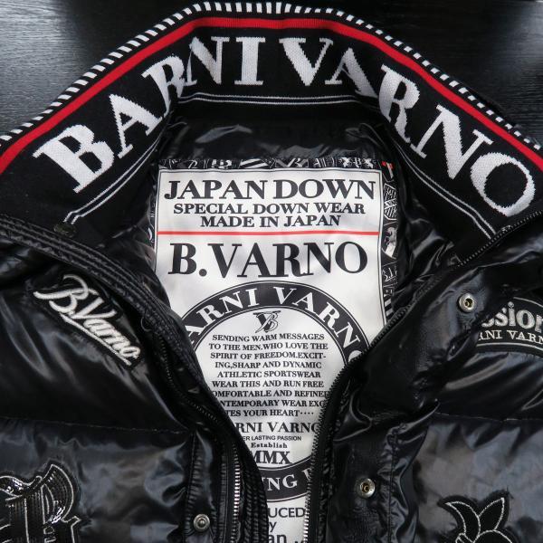 バーニヴァーノ ダウンジャケット 黒 Lサイズ BSS-GDB2605-09 BARNI VARNO|wanwan|05