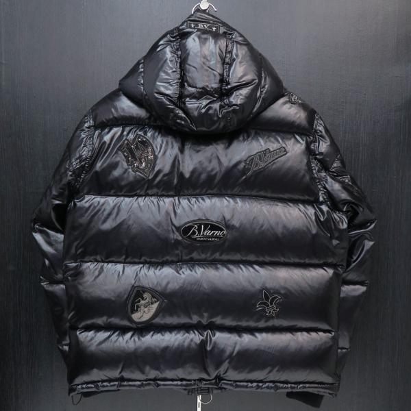 バーニヴァーノ ダウンジャケット 黒 Lサイズ BSS-GDB2605-90 BARNI VARNO|wanwan|02