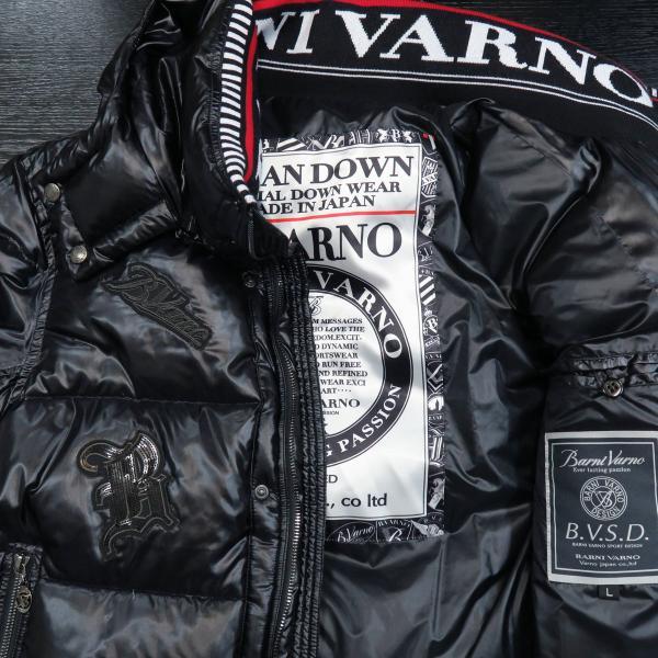 バーニヴァーノ ダウンジャケット 黒 Lサイズ BSS-GDB2605-90 BARNI VARNO|wanwan|03