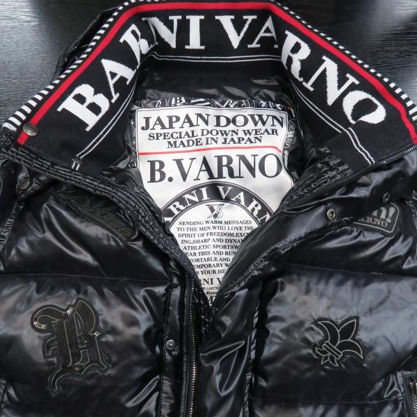 バーニヴァーノ ダウンジャケット 黒 Lサイズ BSS-GDB2605-90 BARNI VARNO|wanwan|05