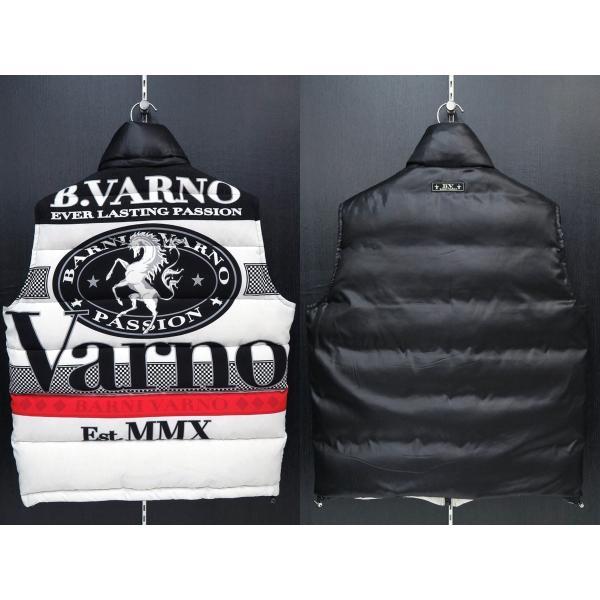 バーニヴァーノ ダウンベスト 黒/白 Lサイズ BAW-GDV2600-05 BARNI VARNO|wanwan|02