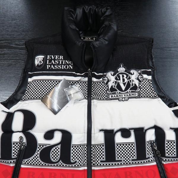 バーニヴァーノ ダウンベスト 黒/白 Lサイズ BAW-GDV2600-05 BARNI VARNO|wanwan|03