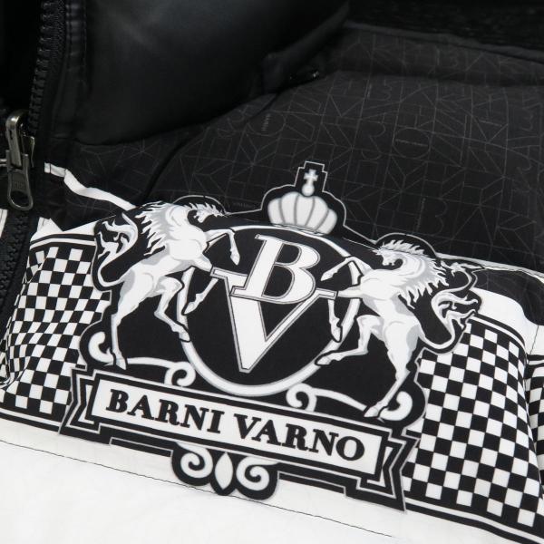 バーニヴァーノ ダウンベスト 黒/白 Lサイズ BAW-GDV2600-05 BARNI VARNO|wanwan|04