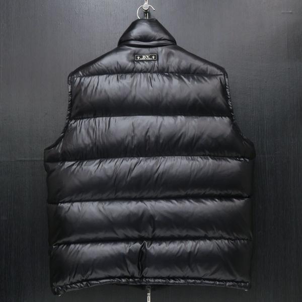 バーニヴァーノ リバーシブルダウンベスト 黒 LLサイズ BAW-GDV2600-09 BARNI VARNO wanwan 03