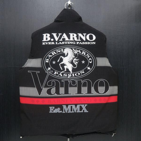 バーニヴァーノ リバーシブルダウンベスト 黒 LLサイズ BAW-GDV2600-09 BARNI VARNO wanwan 05