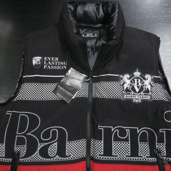バーニヴァーノ リバーシブルダウンベスト 黒 LLサイズ BAW-GDV2600-09 BARNI VARNO wanwan 06