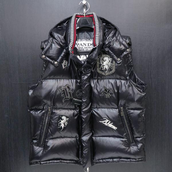 バーニヴァーノ ダウンベスト 黒 LLサイズ BAW-GDV2606-09 BARNI VARNO|wanwan