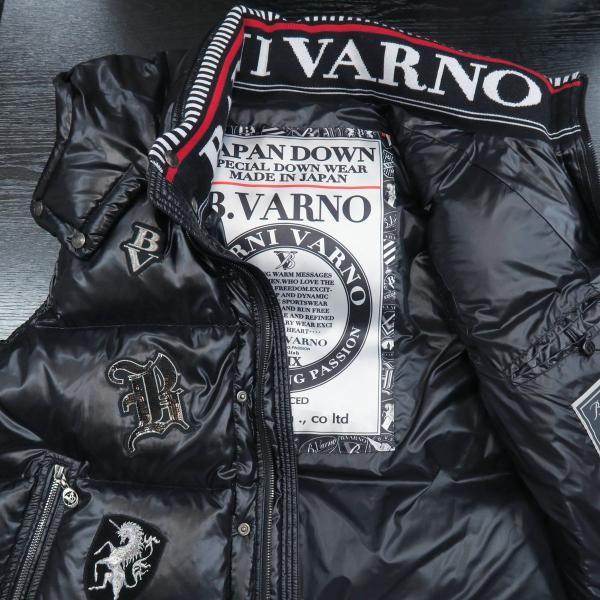 バーニヴァーノ ダウンベスト 黒 LLサイズ BAW-GDV2606-09 BARNI VARNO|wanwan|03
