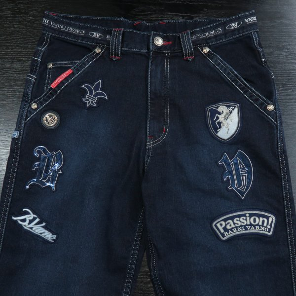 バーニヴァーノ 5ポケットデニムジーンズ インディゴ 79-100cm BAW-GJZ2615-67 BARNI VARNO|wanwan|03