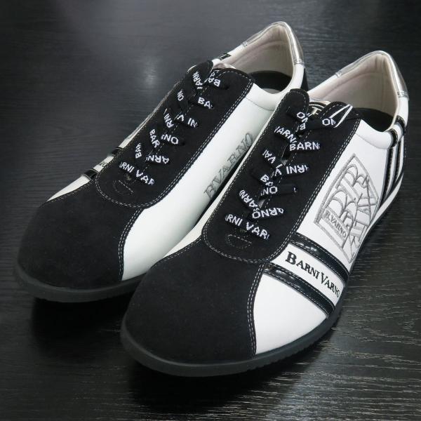 バーニヴァーノ スニーカー 白/黒 BAW-GKS2721-01 BARNI VARNO 靴|wanwan