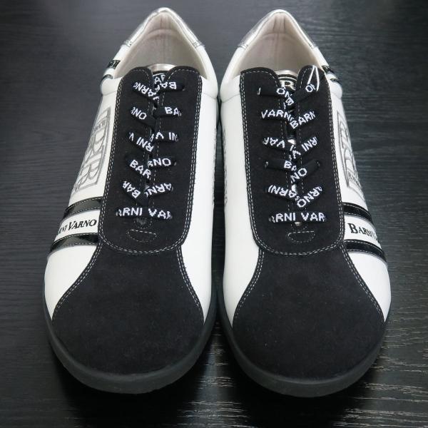 バーニヴァーノ スニーカー 白/黒 BAW-GKS2721-01 BARNI VARNO 靴|wanwan|02