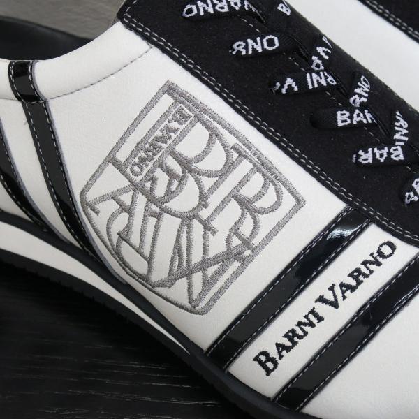 バーニヴァーノ スニーカー 白/黒 BAW-GKS2721-01 BARNI VARNO 靴|wanwan|03