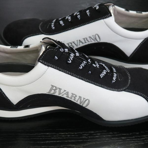 バーニヴァーノ スニーカー 白/黒 BAW-GKS2721-01 BARNI VARNO 靴|wanwan|05