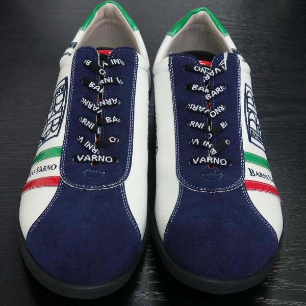 バーニヴァーノ スニーカー 白/紺 BAW-GKS2721-02 BARNI VARNO 靴|wanwan|02