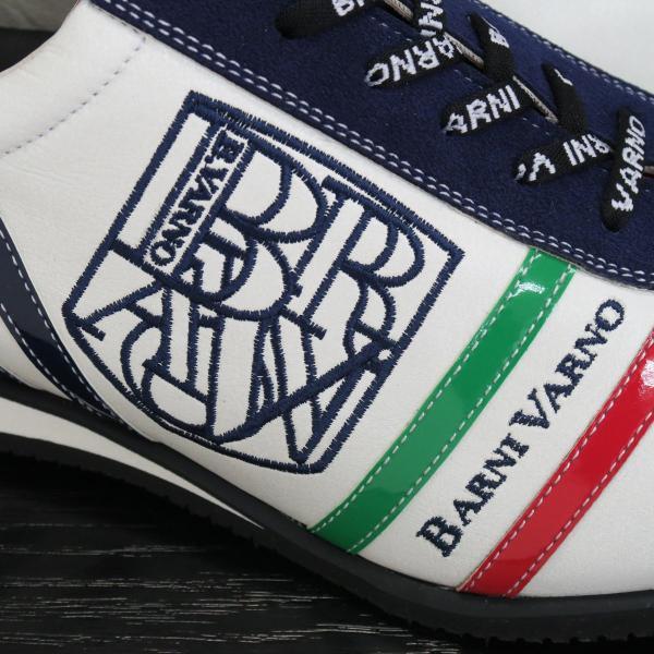 バーニヴァーノ スニーカー 白/紺 BAW-GKS2721-02 BARNI VARNO 靴|wanwan|03