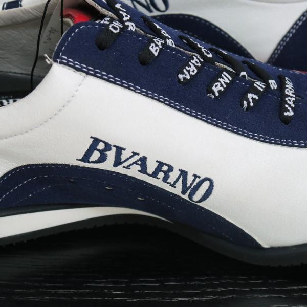 バーニヴァーノ スニーカー 白/紺 BAW-GKS2721-02 BARNI VARNO 靴|wanwan|05
