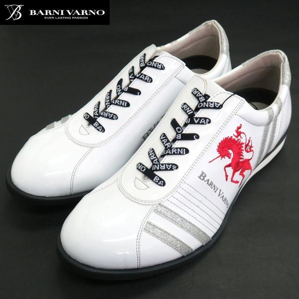 バーニヴァーノ スニーカー 白 BAW-GKS2722-01 BARNI VARNO 靴|wanwan