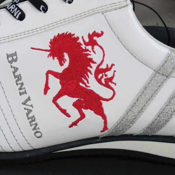 バーニヴァーノ スニーカー 白 BAW-GKS2722-01 BARNI VARNO 靴|wanwan|04