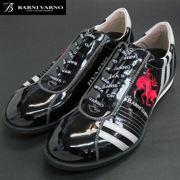 バーニヴァーノ スニーカー 黒 BAW-GKS2722-09 BARNI VARNO 靴 wanwan