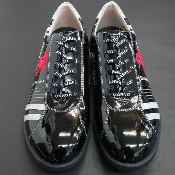 バーニヴァーノ スニーカー 黒 BAW-GKS2722-09 BARNI VARNO 靴|wanwan|03