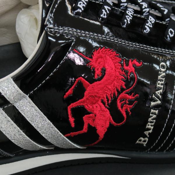 バーニヴァーノ スニーカー 黒 BAW-GKS2722-09 BARNI VARNO 靴|wanwan|04