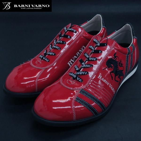 バーニヴァーノ スニーカー 赤 BAW-GKS2722-45 BARNI VARNO 靴|wanwan