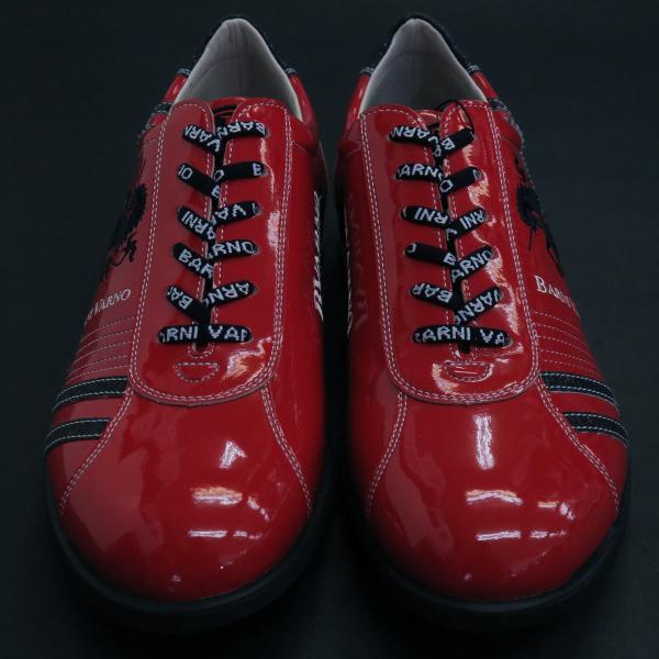 バーニヴァーノ スニーカー 赤 BAW-GKS2722-45 BARNI VARNO 靴|wanwan|02