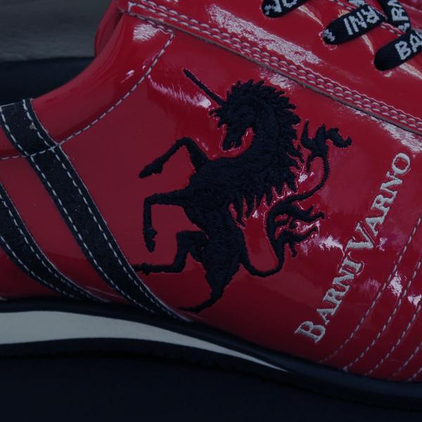 バーニヴァーノ スニーカー 赤 BAW-GKS2722-45 BARNI VARNO 靴|wanwan|03