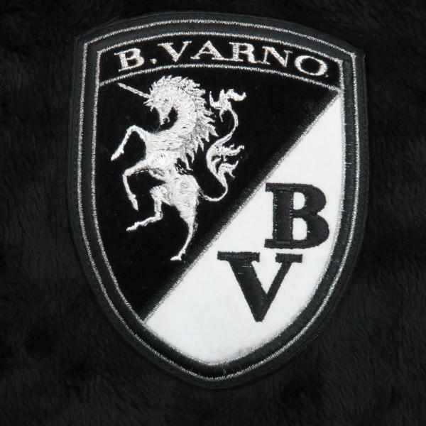 バーニヴァーノ ボアジップアップパーカー 黒 M-Lサイズ BAW-GST2660-09 BARNI VARNO|wanwan|04