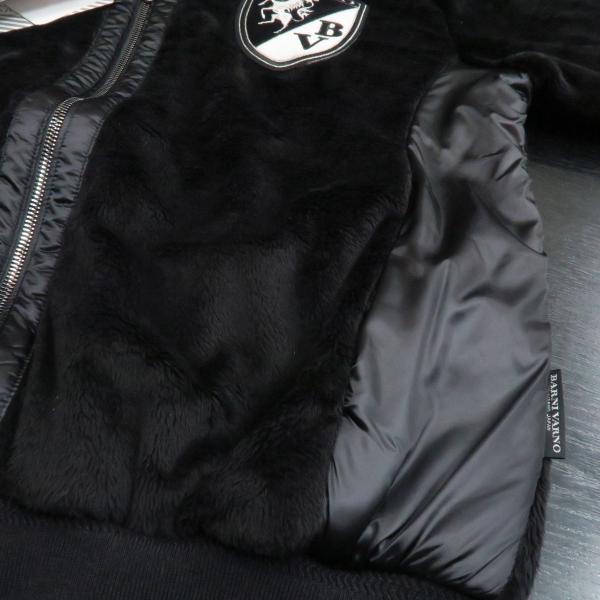 バーニヴァーノ ボアジップアップパーカー 黒 M-Lサイズ BAW-GST2660-09 BARNI VARNO|wanwan|05