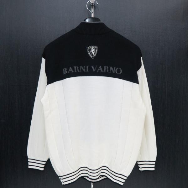 バーニヴァーノ ハーフジップセーター 白 Lサイズ BAW-GSW2649-01 BARNI VARNO|wanwan|02