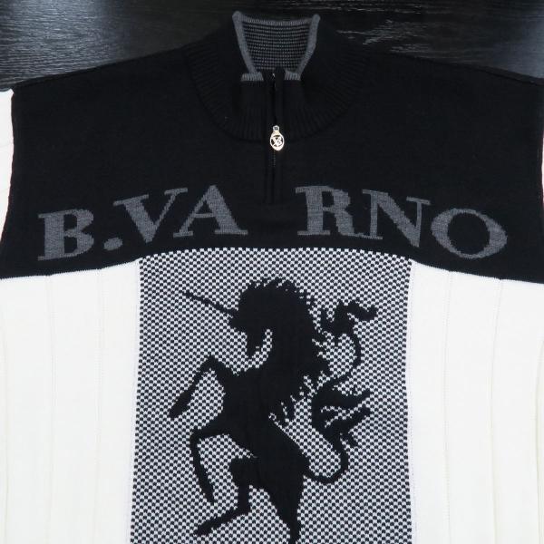 バーニヴァーノ ハーフジップセーター 白 Lサイズ BAW-GSW2649-01 BARNI VARNO|wanwan|03
