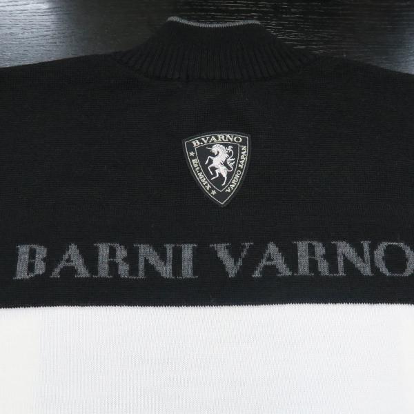 バーニヴァーノ ハーフジップセーター 白 Lサイズ BAW-GSW2649-01 BARNI VARNO|wanwan|06