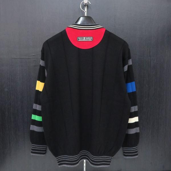 バーニヴァーノ 丸首セーター 黒 M-Lサイズ BAW-GSW2654-09 BARNI VARNO|wanwan|02