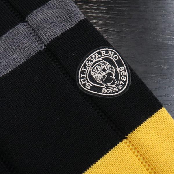 バーニヴァーノ 丸首セーター 黒 M-Lサイズ BAW-GSW2654-09 BARNI VARNO|wanwan|05