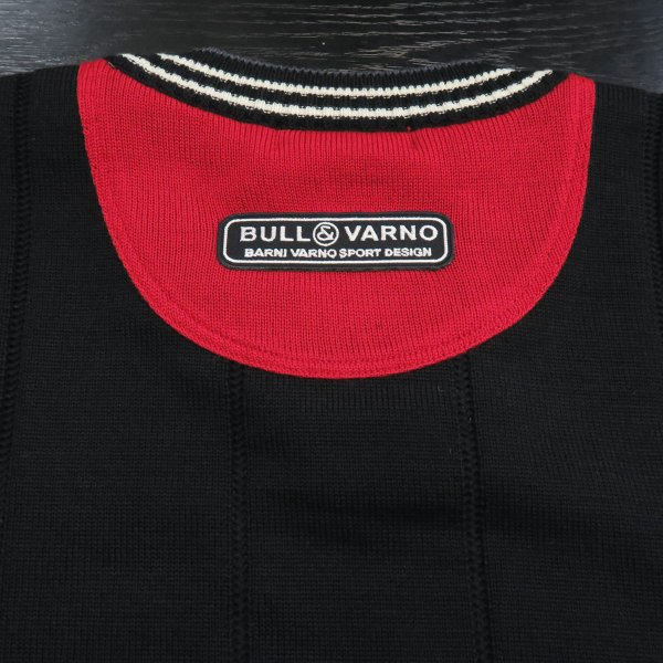 バーニヴァーノ 丸首セーター 黒 M-Lサイズ BAW-GSW2654-09 BARNI VARNO|wanwan|06