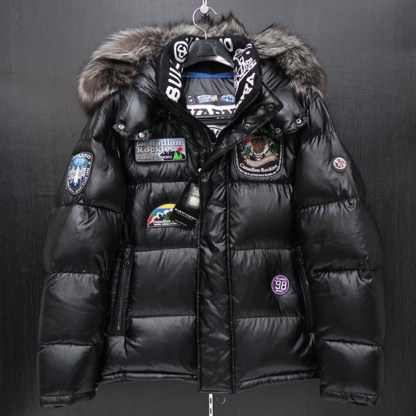 バーニヴァーノ ダウンジャケット Lサイズ 黒 毛皮 BAW-HDB3002-09 BARNI VARNO 新作 wanwan 02