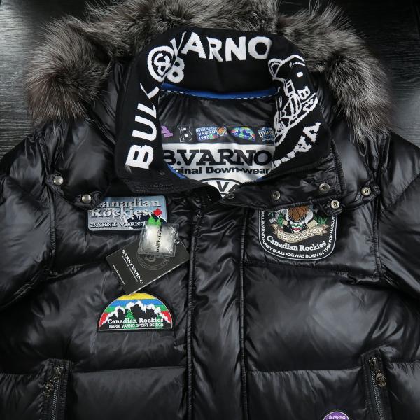 バーニヴァーノ ダウンジャケット Lサイズ 黒 毛皮 BAW-HDB3002-09 BARNI VARNO 新作 wanwan 03