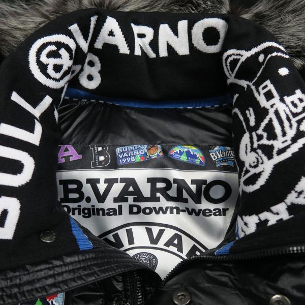 バーニヴァーノ ダウンジャケット Lサイズ 黒 毛皮 BAW-HDB3002-09 BARNI VARNO 新作 wanwan 04