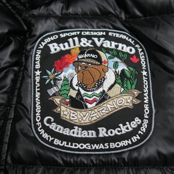 バーニヴァーノ ダウンジャケット Lサイズ 黒 毛皮 BAW-HDB3002-09 BARNI VARNO 新作 wanwan 05