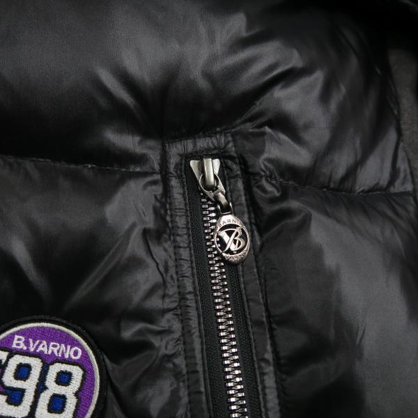 バーニヴァーノ ダウンジャケット Lサイズ 黒 毛皮 BAW-HDB3002-09 BARNI VARNO 新作 wanwan 06