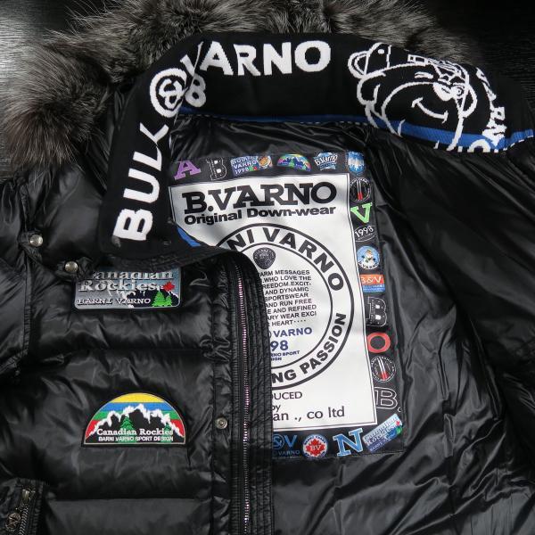 バーニヴァーノ ダウンジャケット Lサイズ 黒 毛皮 BAW-HDB3002-09 BARNI VARNO 新作 wanwan 07