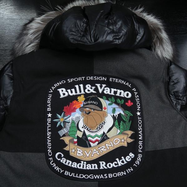 バーニヴァーノ ダウンジャケット Lサイズ 黒 毛皮 BAW-HDB3002-09 BARNI VARNO 新作 wanwan 08