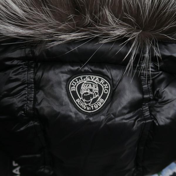 バーニヴァーノ ダウンジャケット Lサイズ 黒 毛皮 BAW-HDB3002-09 BARNI VARNO 新作 wanwan 09