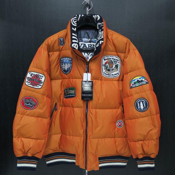 バーニヴァーノ ダウンジャケット オレンジ LLサイズ BAW-HDB3005-27 BARNI VARNO 新作 wanwan