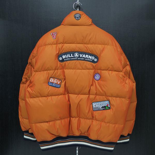 バーニヴァーノ ダウンジャケット オレンジ LLサイズ BAW-HDB3005-27 BARNI VARNO 新作 wanwan 02