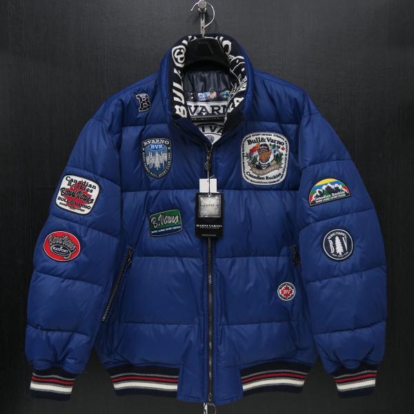 バーニヴァーノ ダウンジャケット 青 LLサイズ BAW-HDB3005-63 BARNI VARNO 新作|wanwan