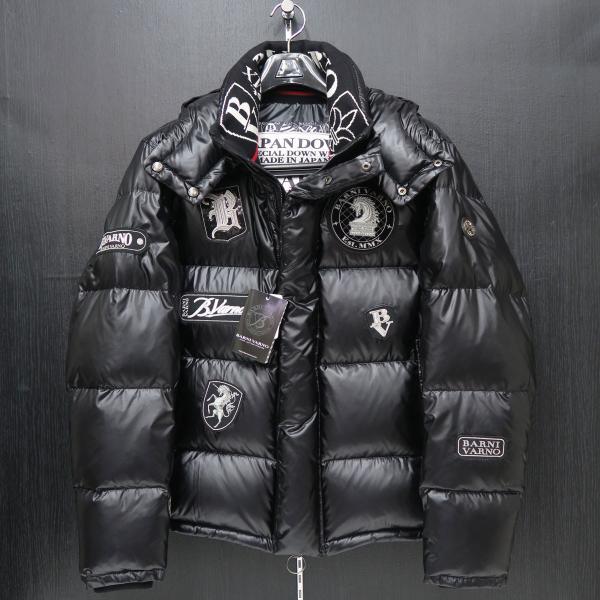 バーニヴァーノ ダウンジャケット 黒 Lサイズ BAW-HDB3007-09 BARNI VARNO 新作|wanwan