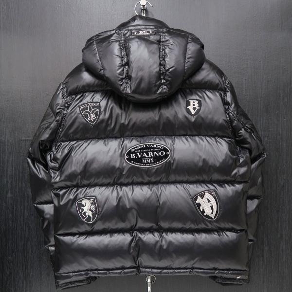 バーニヴァーノ ダウンジャケット 黒 Lサイズ BAW-HDB3007-09 BARNI VARNO 新作|wanwan|02