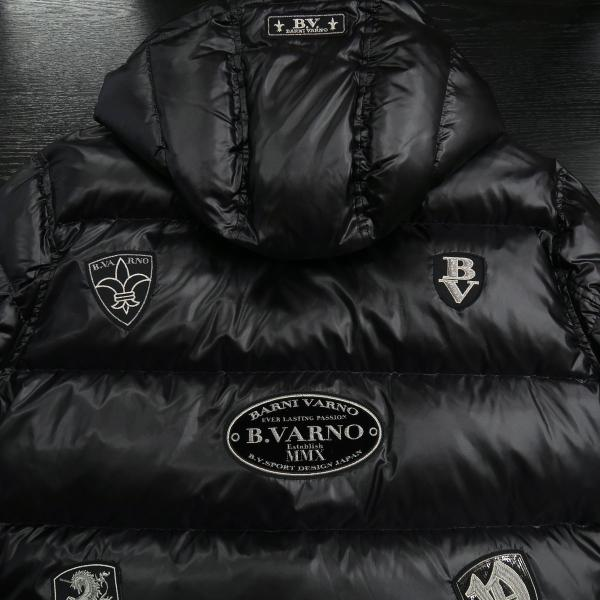 バーニヴァーノ ダウンジャケット 黒 Lサイズ BAW-HDB3007-09 BARNI VARNO 新作|wanwan|11